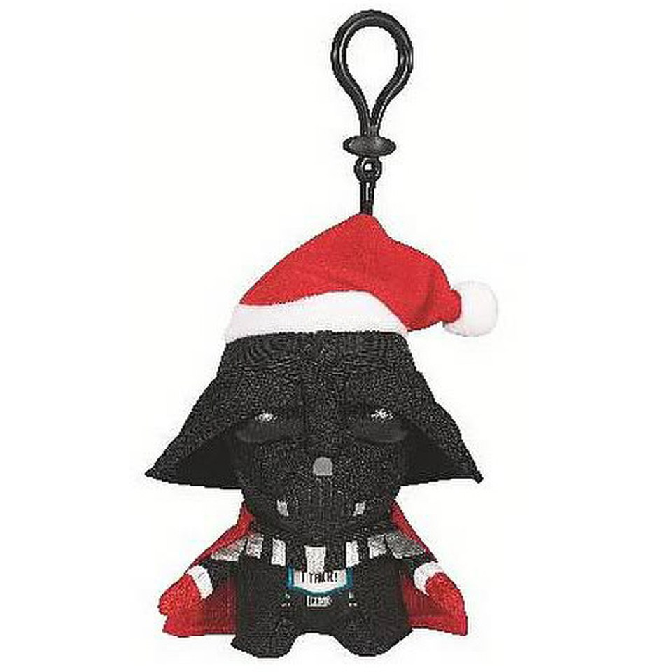 Star Wars Santa Darth Vader Talking Plush Clip On
