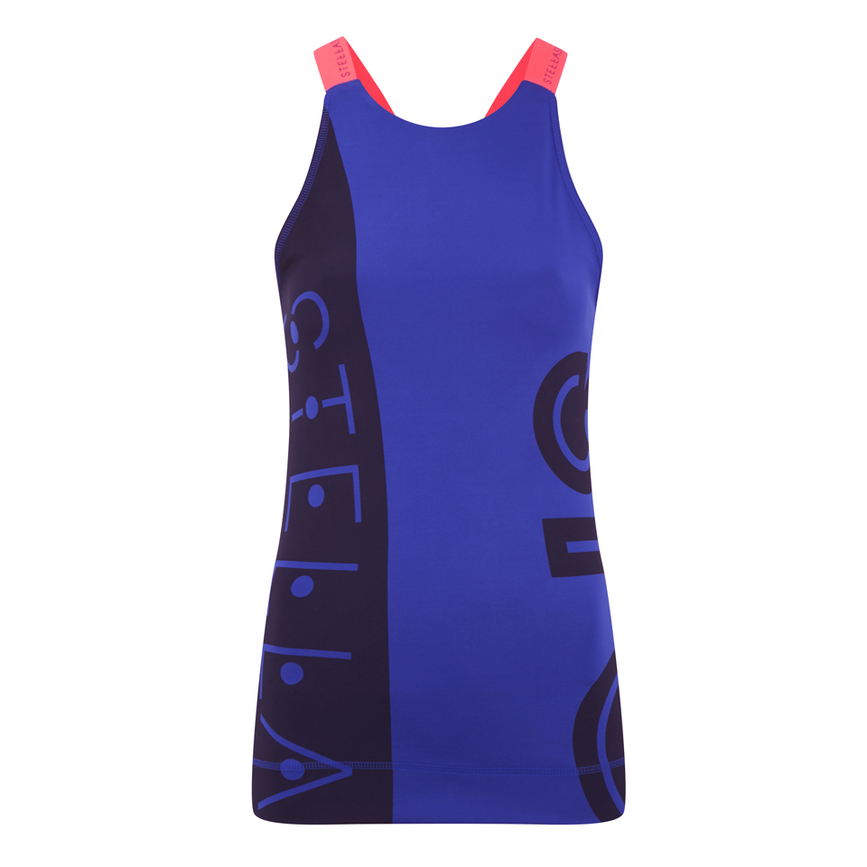 adidas women 39 s stella sport gym tank top blue sports. Black Bedroom Furniture Sets. Home Design Ideas