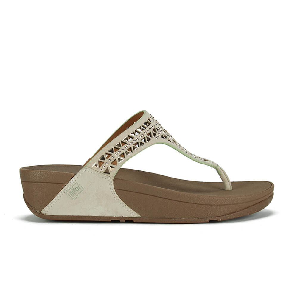 8b7c7344a FitFlop Women s Carmel Toe Post Suede Sandals - Rose Gold Womens ...