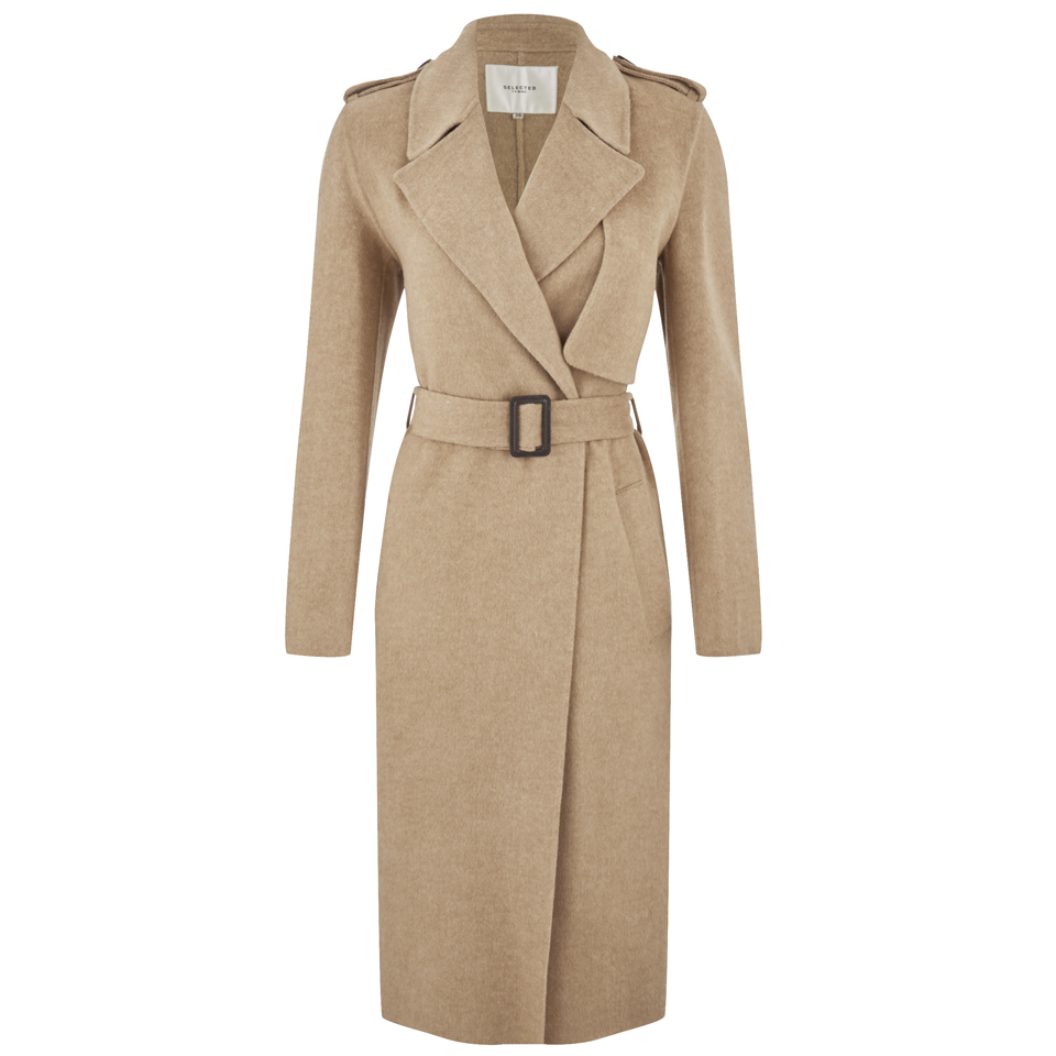 b844101a43 Selected Femme Women's Tana Trench Coat - Camel Womens Clothing ...