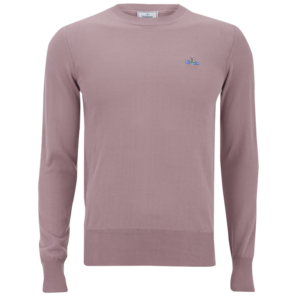 e9e565f4706 Vivienne Westwood Men's Classic Round Neck Knitted Jumper - Pink - Free UK  Delivery over £50
