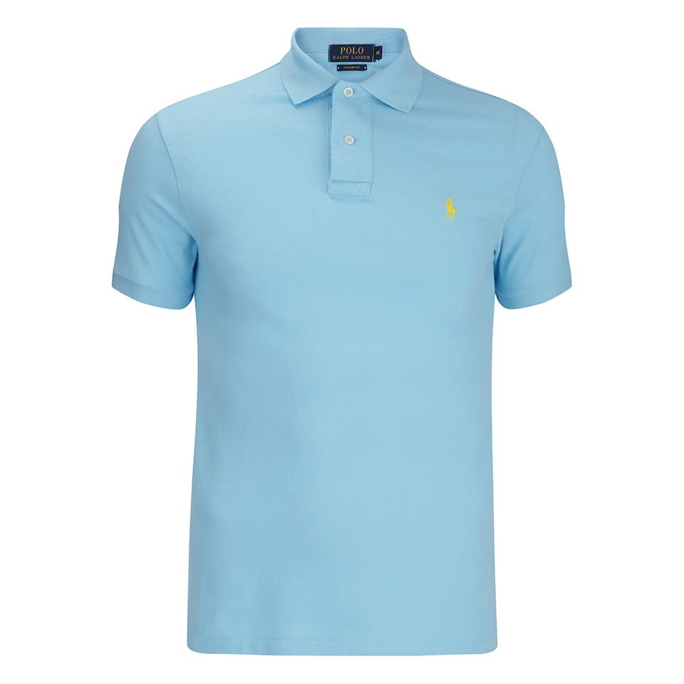 Polo ralph lauren men 39 s short sleeve custom fit polo shirt for Custom tailored polo shirts