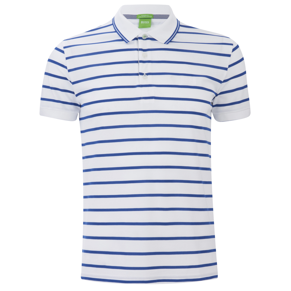 6f5f4a57d736 BOSS Green Men s Paddy 1 Striped Polo Shirt - White - Free UK ...