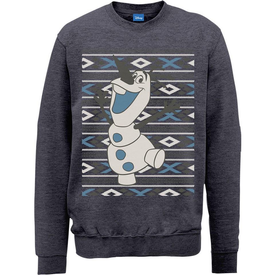 Disney Frozen Christmas Olaf Smile Sweatshirt - Dark Heather ...