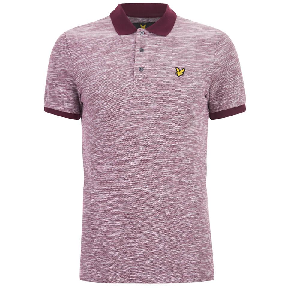 83ba868f ... Lyle & Scott Vintage Men's Oxford Slub Pique Polo Shirt - Claret