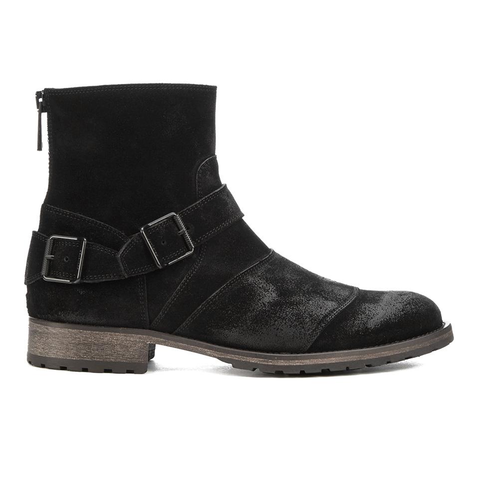 291dd2a0f0d5 Belstaff Men s Trialmaster Leather Short Boots - Black - Free UK ...