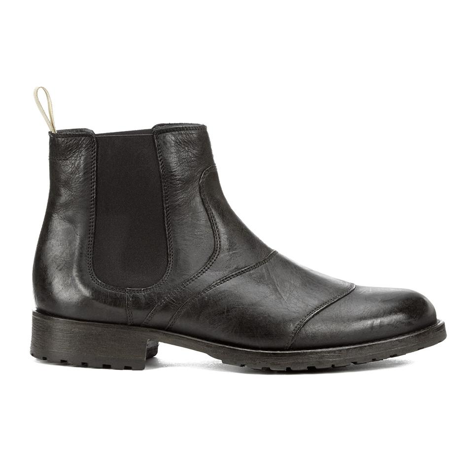 Belstaff Men S Lancaster Leather Chelsea Boots Black