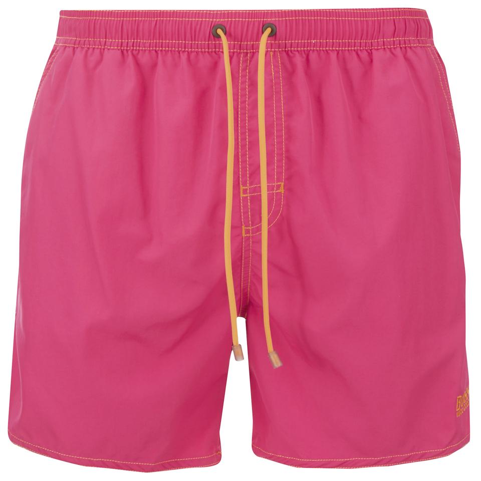 885ff0ac6068f BOSS Hugo Boss Men's Lobster Swim Shorts - Pink - Free UK Delivery ...