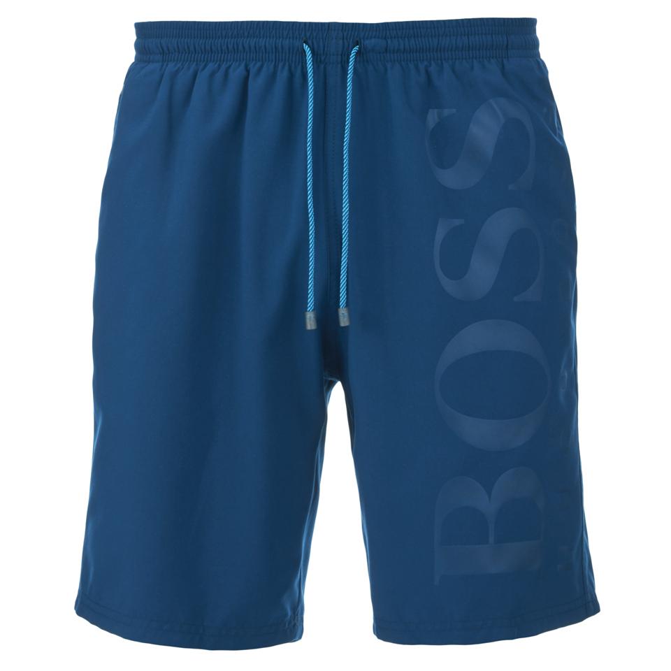 a28ee114c5d80 BOSS Hugo Boss Men's Seabream Swim Shorts - Light Blue - Free UK ...
