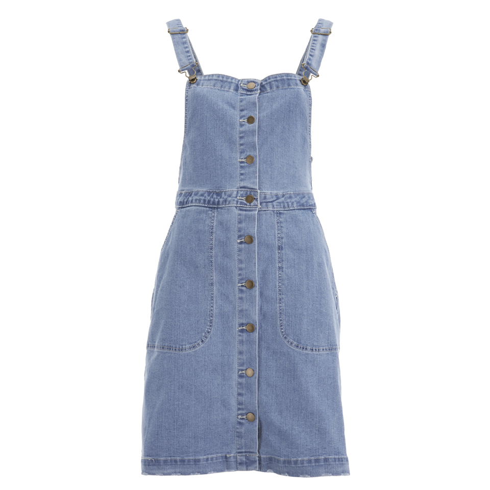 135ef40e895 VILA Women s Lagos Denim Spencer Dress - Light Blue Denim Womens Clothing