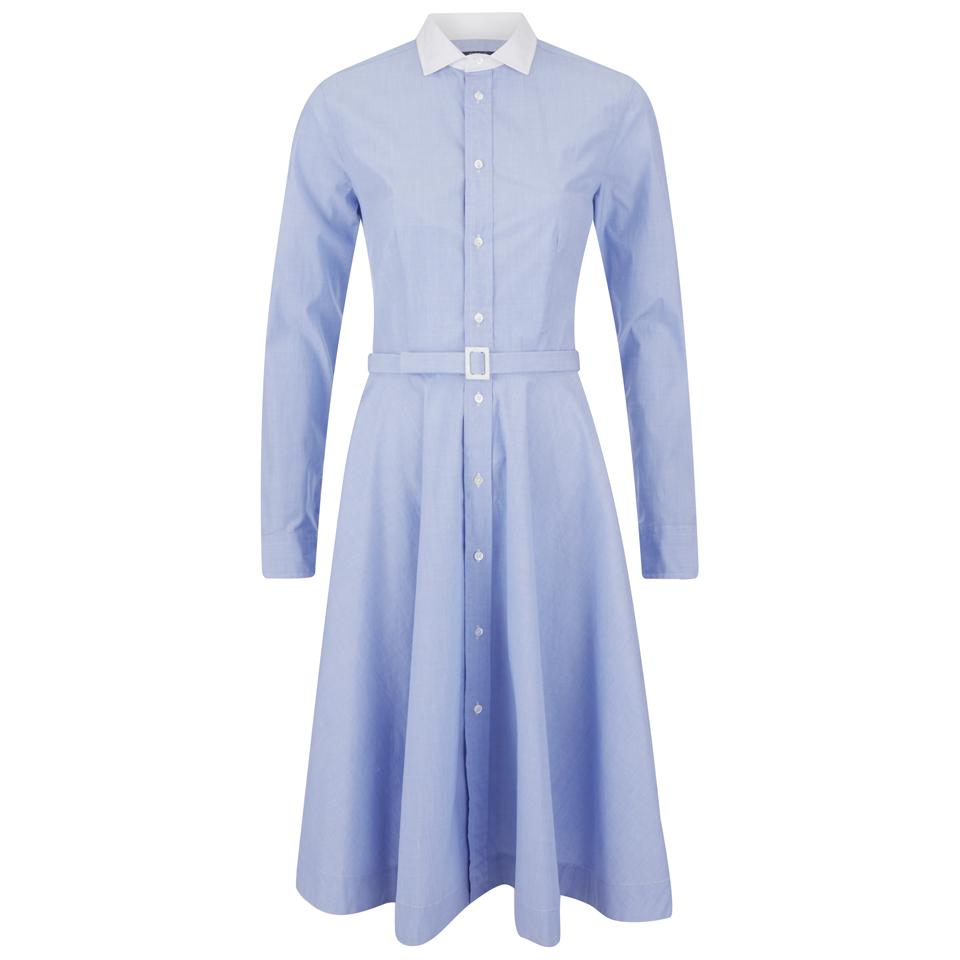 59267bfe37a Polo Ralph Lauren Women s Dori Shirt Dress - Blue White - Free UK ...