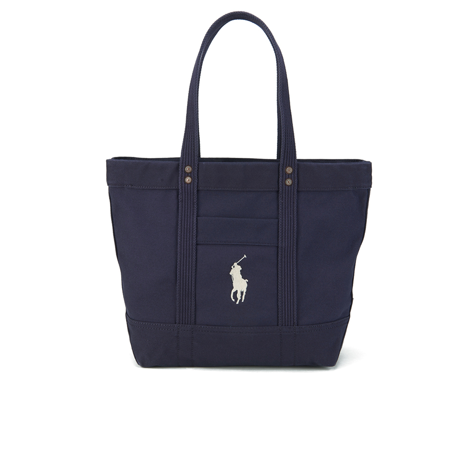 9ae6fa402431 Polo Ralph Lauren Women s Canvas Tote Bag - Navy - Free UK Delivery ...