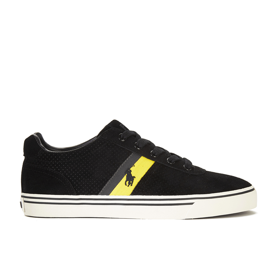 3dec1f9dd45 Polo Ralph Lauren Men s Hanford II Perforated Suede Trainers - Black ...