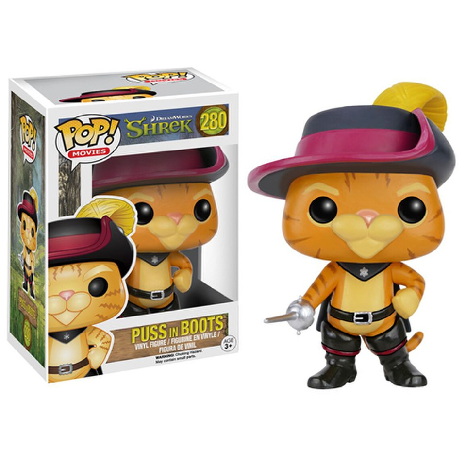 Shrek Puss In Boots Pop Vinyl Figure Merchandise Zavvi