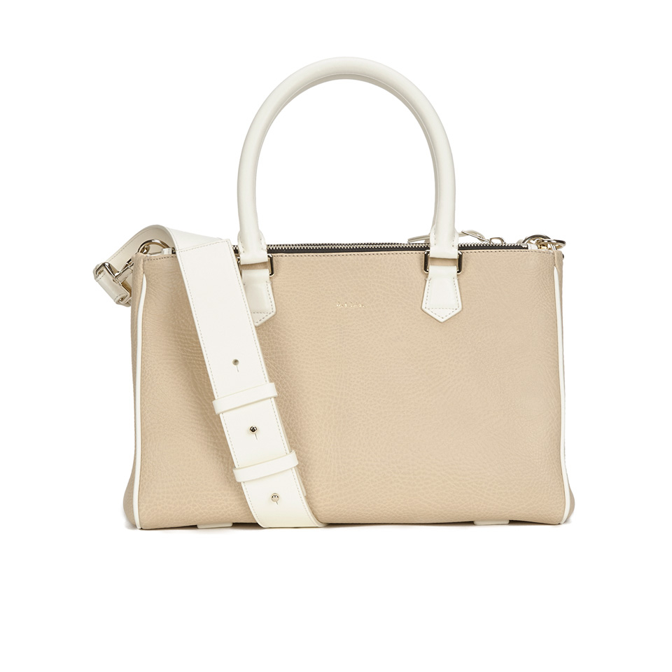 128cadead7 Paul Smith Accessories Women s Small Double Zip Leather Tote Bag - Cream