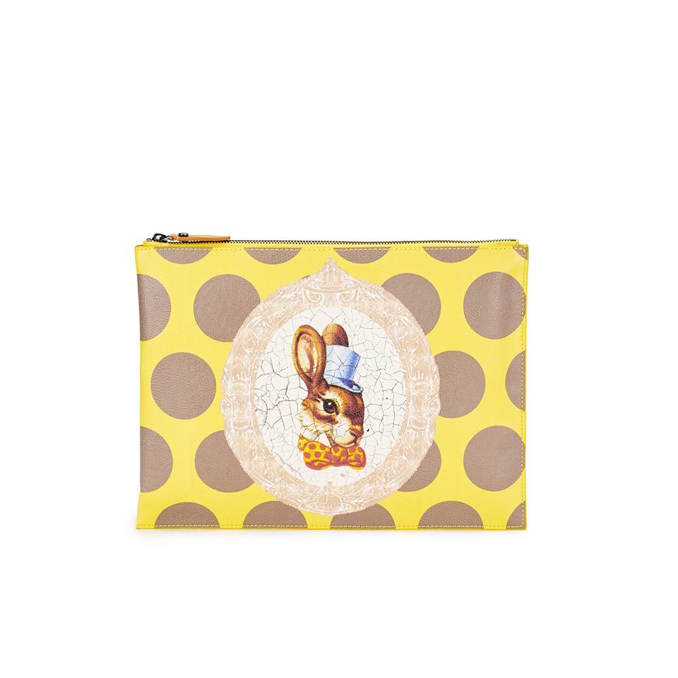 4a546ef99e3 Vivienne Westwood Women's Bunny Clutch Bag - Yellow - Free UK ...