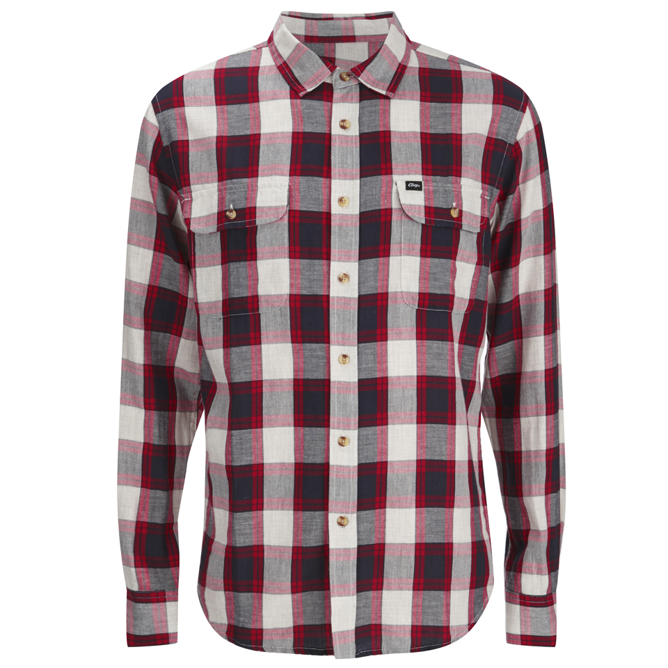 d135f522 ... OBEY Clothing Men's Ridley Woven Long Sleeve Shirt - Red Check