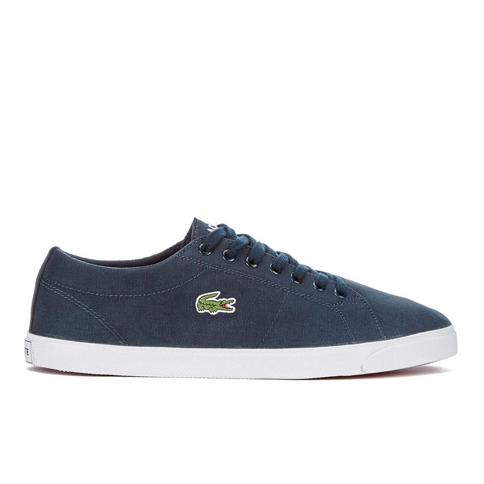 5e94dbd1741457 Lacoste Men s Marcel LCR2 Canvas Trainers - Blue Mens Footwear ...