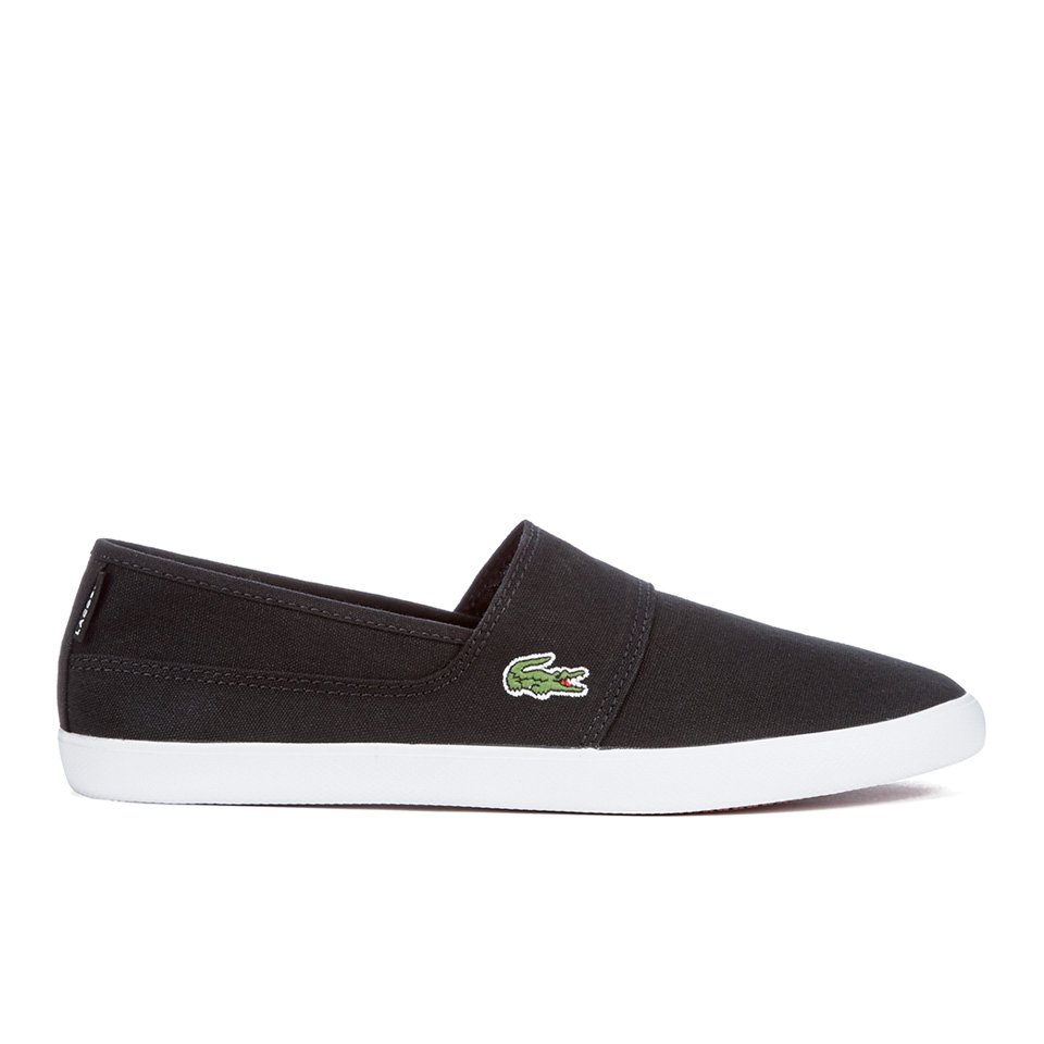 810a2a4cd Lacoste Men s Marice Canvas Slip On Pumps - Black - Free UK Delivery ...