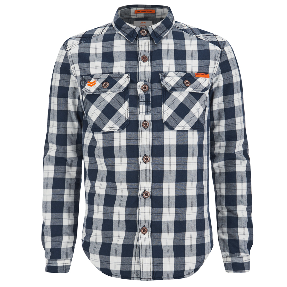 96c230821e Superdry Men s Rookie Flannel Shirt - Navy Mens Clothing