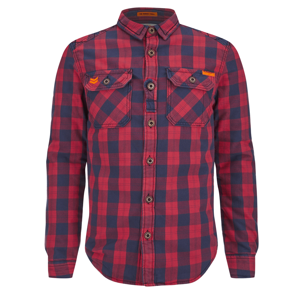 f221eeaad4 Superdry Men s Rookie Flannel Shirt - Red Mens Clothing