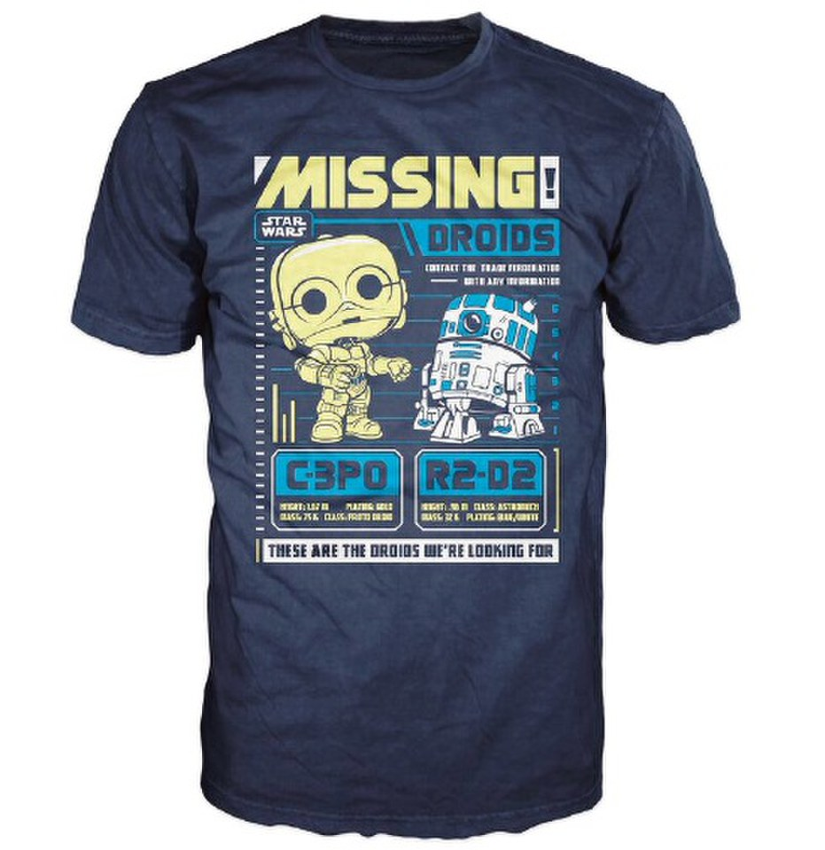Star Wars C-3PO And R2-D2 Poster Pop! T-Shirt - Blue