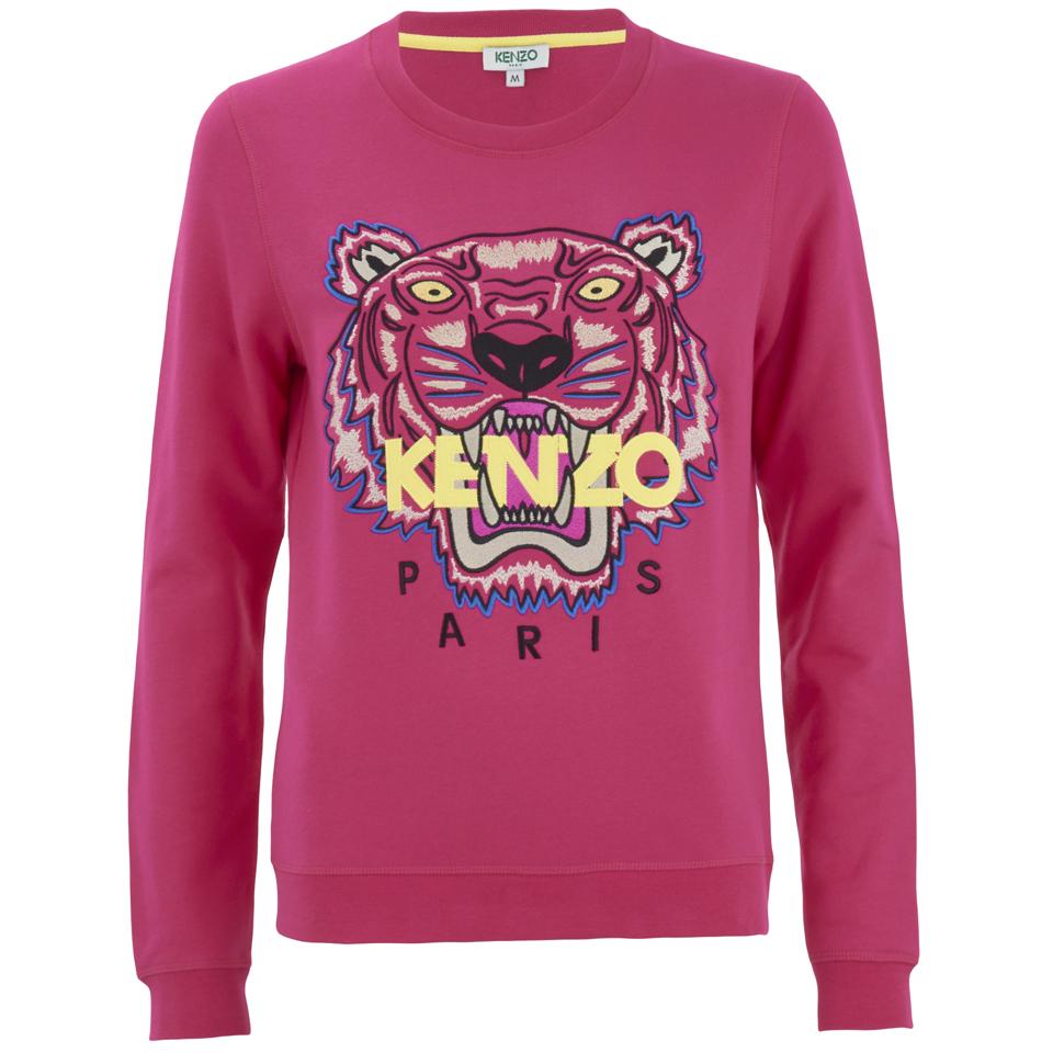 Kenzo Women S The Classic Tiger Sweatshirt Fuchsia Free Uk