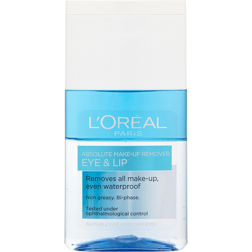 L'Oréal Paris Absolute Eye and Lip Make-Up Remover 125ml | Free Shipping | Lookfantastic