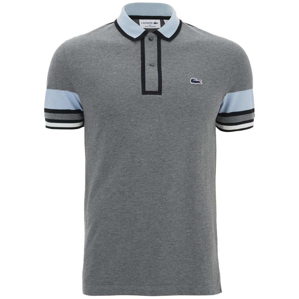 3bcce603 ... Lacoste Men's Short Sleeve Ribbed Collar Polo Shirt - Stone Chine