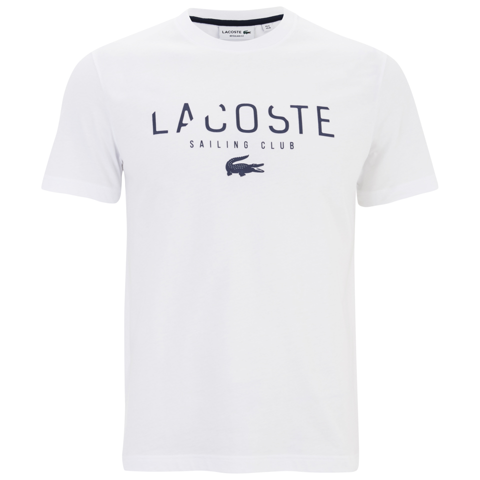 77bbb7ce1f5f8 Lacoste Men s Large Logo T-Shirt - White - Free UK Delivery over £50