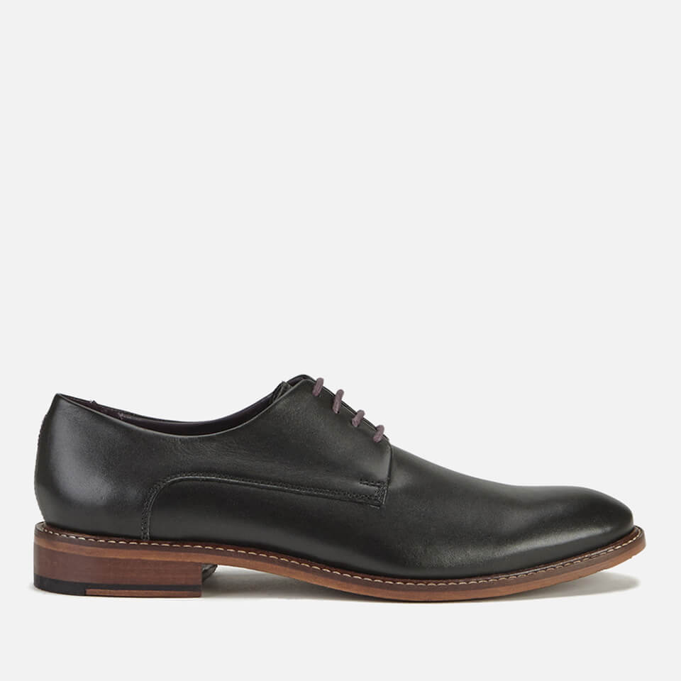 49c80bdefe12 Ted Baker Men s Irron 3 Leather Derby Shoes - Black Clothing ...