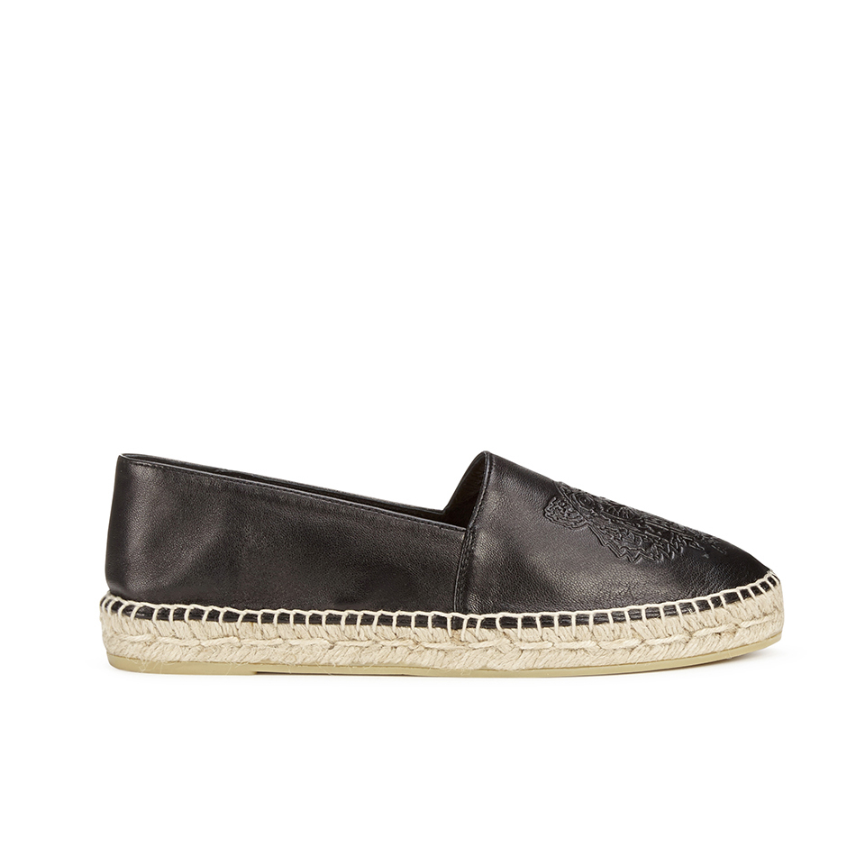636fd5658 KENZO Women's Leather Espadrilles - Black - Free UK Delivery over £50