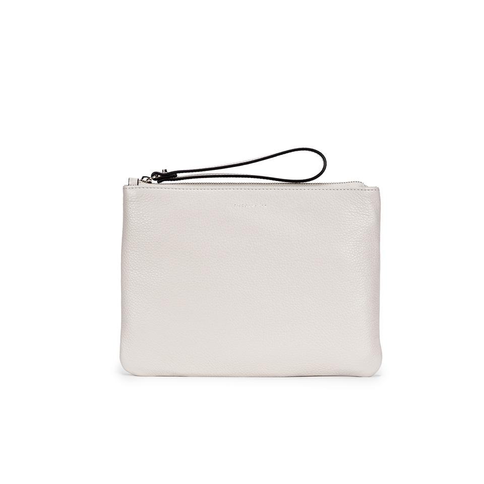 ec0355f1f9 Coccinelle Women's Buste Leather Clutch Bag - White Womens Accessories |  TheHut.com
