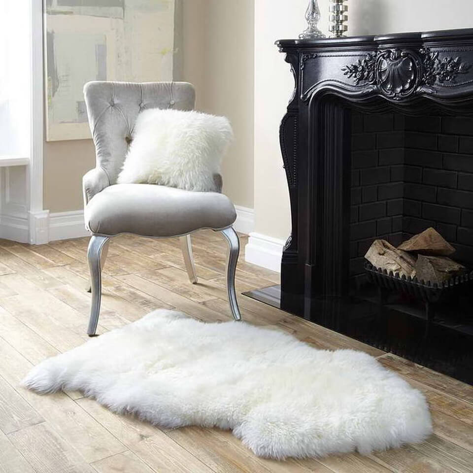 Royal Dream New Zealand Medium Sheepskin Rug - Natural White