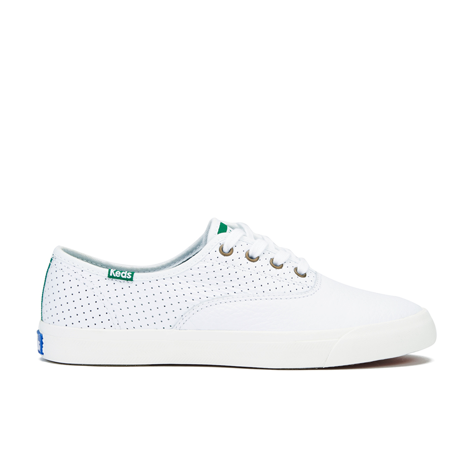 35180f35c1a Keds Women s Triumph Sport Perforated Leather Trainers - White ...
