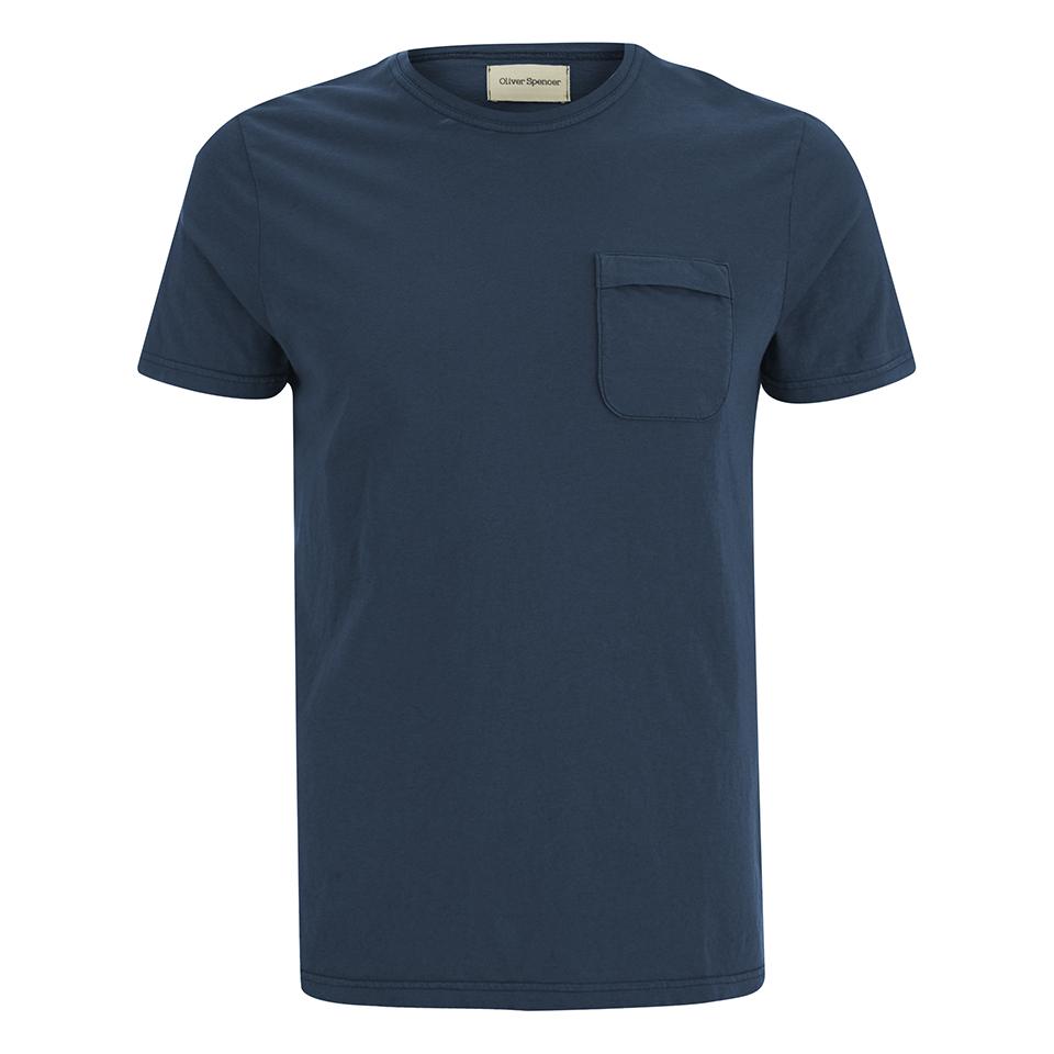 oliver spencer men 39 s envelope t shirt navy free uk. Black Bedroom Furniture Sets. Home Design Ideas