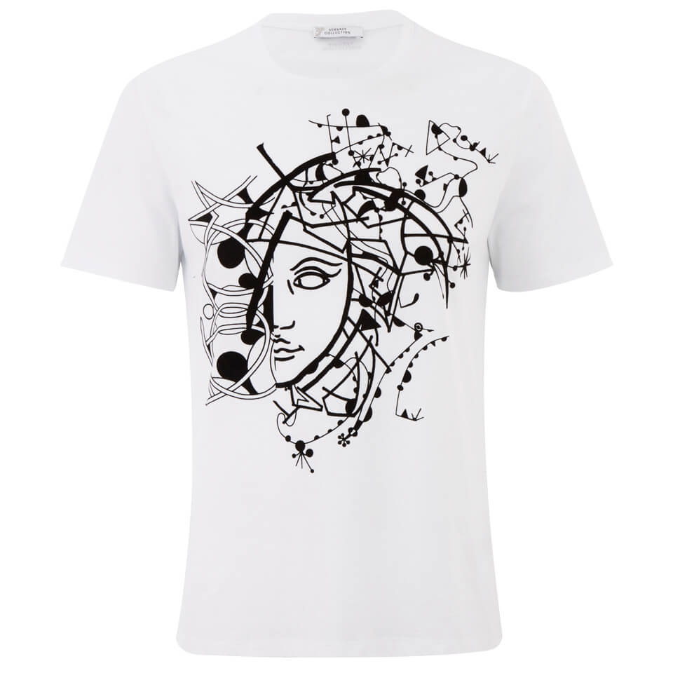 4fce45f6 Versace Collection Men's Abstract Medusa T-Shirt - White Clothing |  TheHut.com