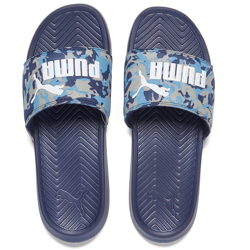 96cd06bd76cc Puma Men s Popcat Camo Slide Sandals - Peacoat Blue - Free UK Delivery over  £50