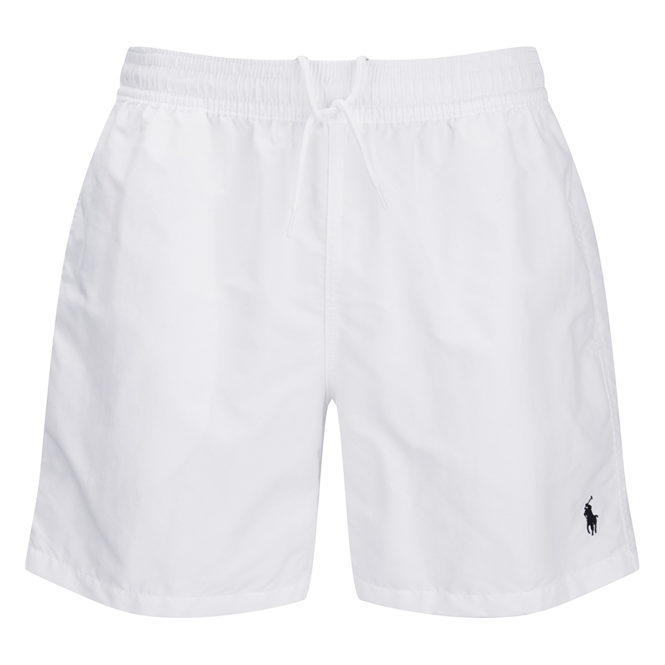9979dc00e1 Polo Ralph Lauren Men's Hawaiian Swim Shorts - White - Free UK Delivery  over £50