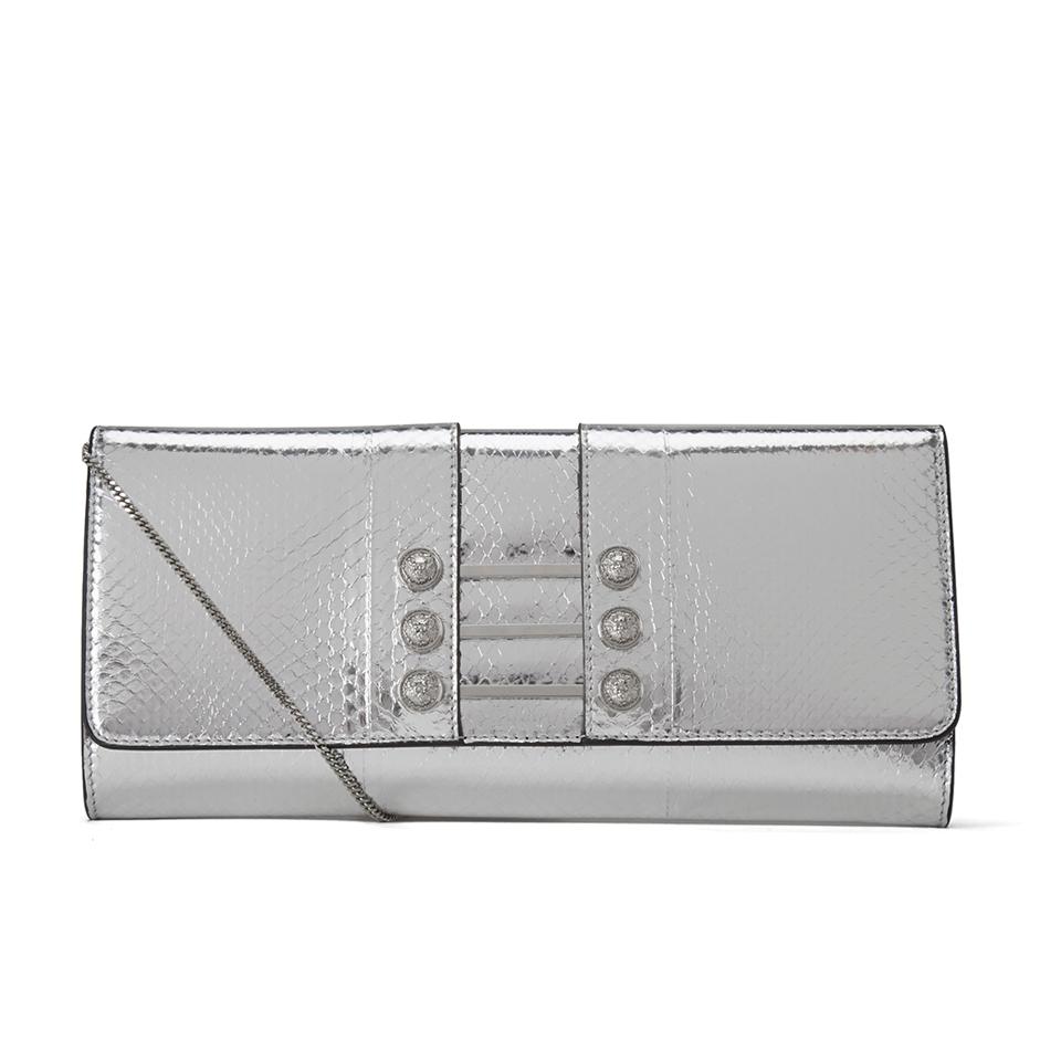 54087d33d28c09 Versus Versace Women's Water Snake Clutch Bag - Silver