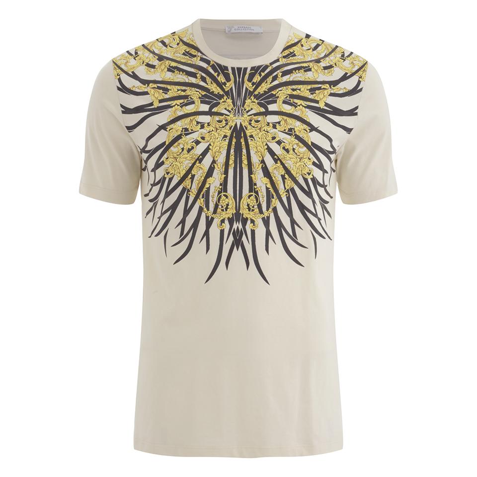 210cf4207 ... Versace Collection Men's Girocollo Chest Print T-Shirt - Multi