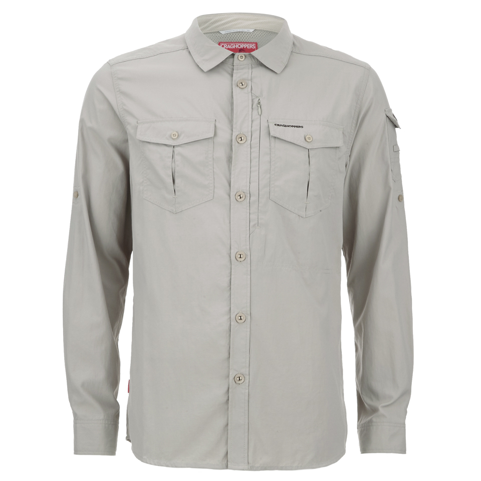 6605017a ... Craghoppers Men's Nosilife Adventure Long Sleeve Shirt - Parchment