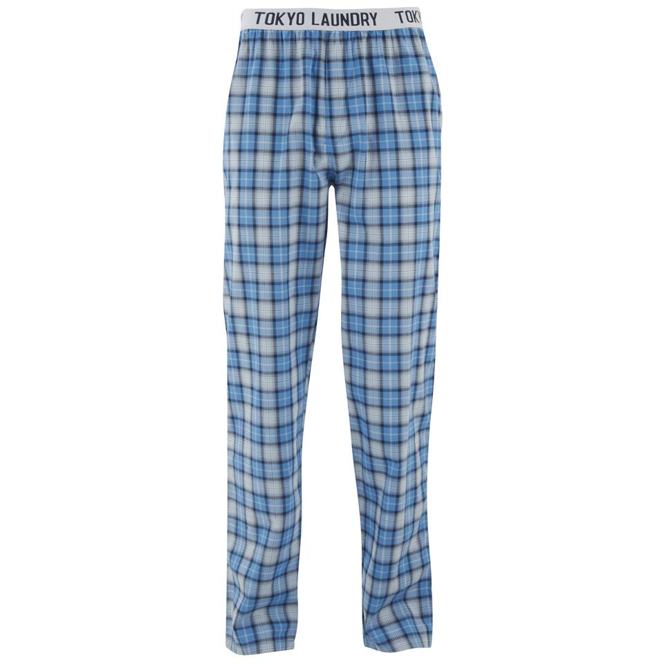Pantalon carreaux tokyo laundry homme half moon bleu for Pantalon homme a carreaux