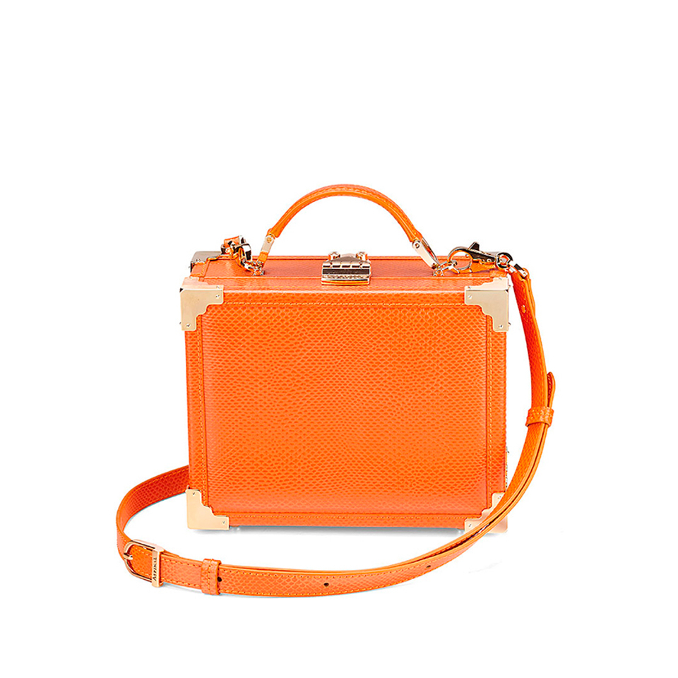 18eb65c51 Aspinal of London Women s Mini Trunk Clutch Bag - Orange Womens Accessories
