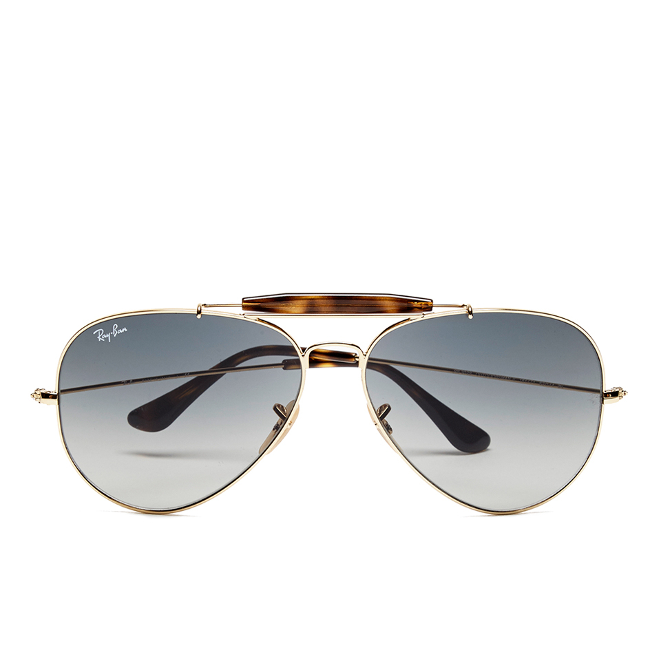 4de6a6f3c1 Ray-Ban Men s Outdoorsman Aviator Sunglasses - Gold - Free UK Delivery over  £50