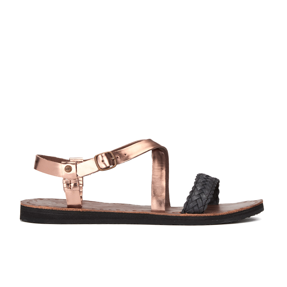 78447bc4e204 UGG Women s Jordyne Leather Braided Strap Sandals - Rose Gold - Free ...