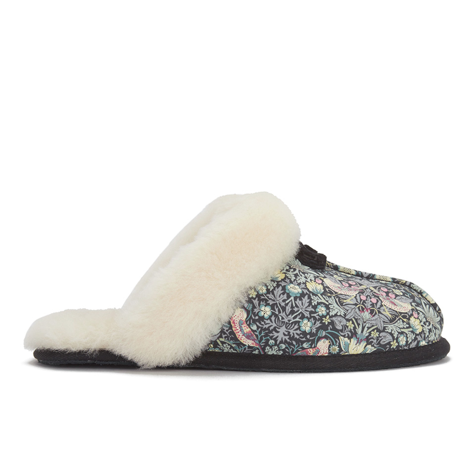 f807b6695eba UGG Women s Scuffette Liberty Sheepskin Collar Slippers - Blush Floral -  Free UK Delivery over £50