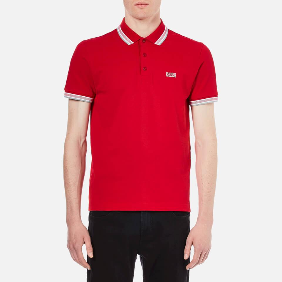Boss Green Men S Paddy Polo Shirt Medium Red Clothing