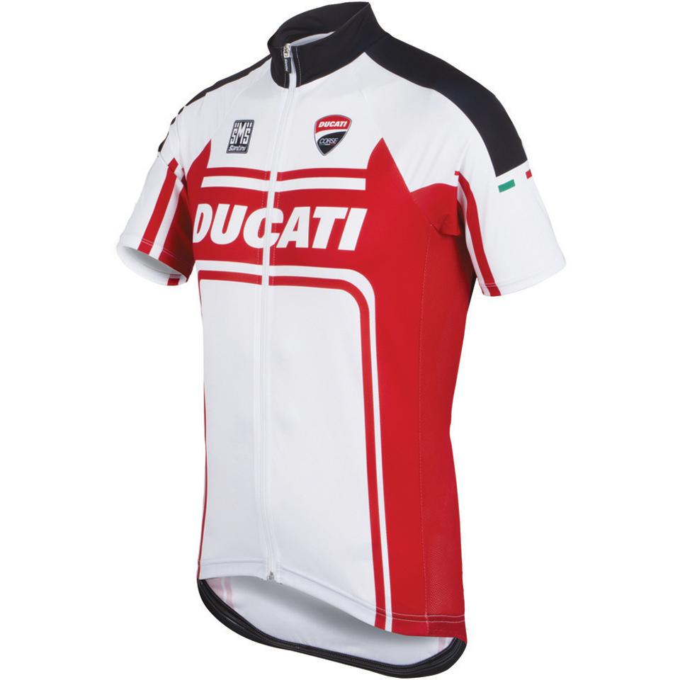 f0a80f5aa Santini Ducati Classic Short Sleeve Jersey - White