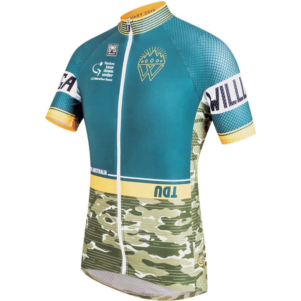 Santini Tour Down Under Old Willunga Hill Short Sleeve Jersey 2016 - Green 1ca550b7f